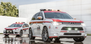 Mitsubishi in race