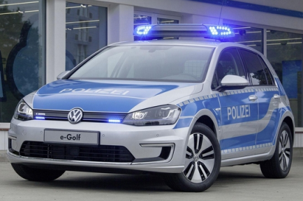 The Volkswagen E-Golf for German police