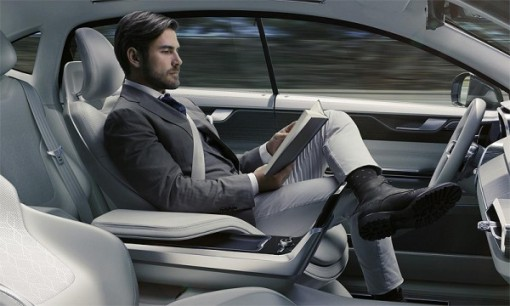 In the future Volvo drivers read or displayed TV