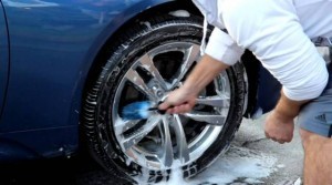 clean car tires