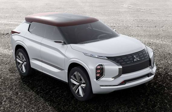 Mitsubishi GT-PHEV Concept, a hybrid SUV with three engines