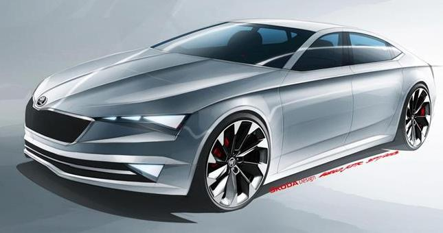 Skoda show its first electric car at the Shanghai Motor Show