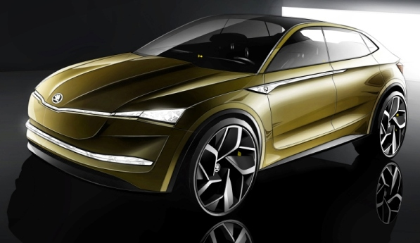 Skoda shows us the Vision E, the brand new SUV electric coupe