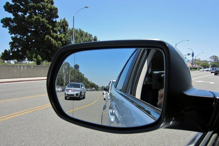 blind spot of a car